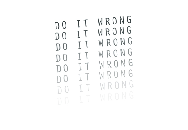 do it wrong, inspirational, oh young designer